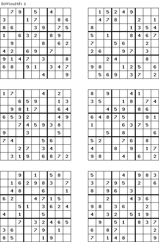 G n rateur de grilles de sudoku - Grilles de sudoku vierges ...